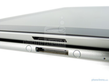 Physical buttons and ports - The Apple iPad 2 (top) and the Samsung Galaxy Tab 10.1 (bottom) - Samsung Galaxy Tab 10.1 vs Apple iPad 2