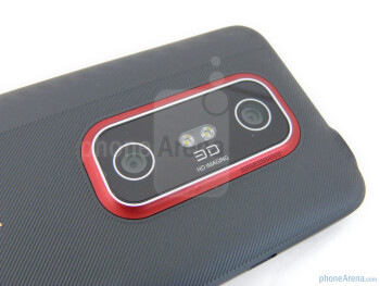 Dual camera on the back - The sides of the HTC EVO 3D  - HTC EVO 3D Review