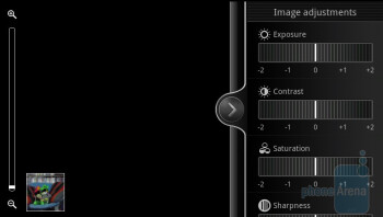 Camera interface - HTC EVO 3D Review
