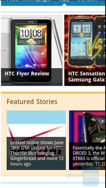 The HTC EVO 3D is able to load complex web pages in no time - HTC EVO 3D Review
