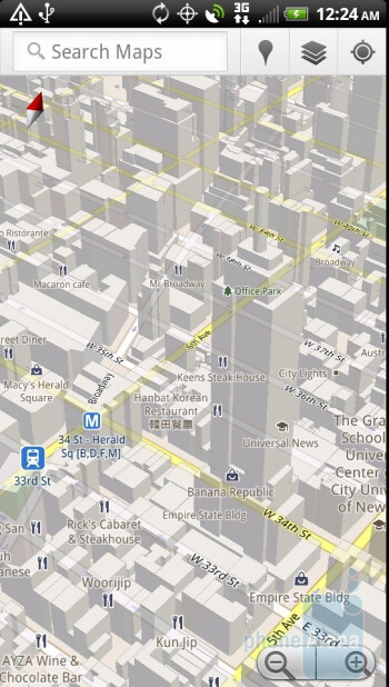 Google Maps - Preloaded apps on the HTC EVO 3D - HTC EVO 3D Review