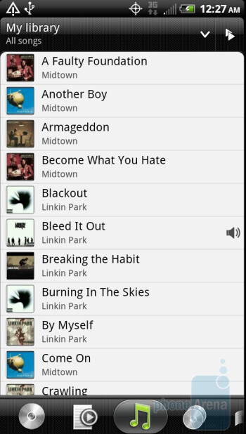 Music player - HTC EVO 3D Review
