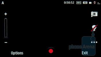 Camera interface - Nokia X7 Review