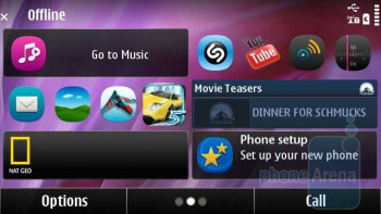 The traditional Symbian^3 interface has been given an overhaul in Annaincluding a brand new set of icons - Nokia X7 Review