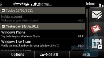 Mail - Organizer apps of the Nokia X7 - Nokia X7 Review