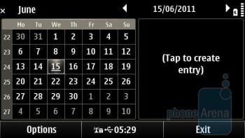 Calendar - Organizer apps of the Nokia X7 - Nokia X7 Review