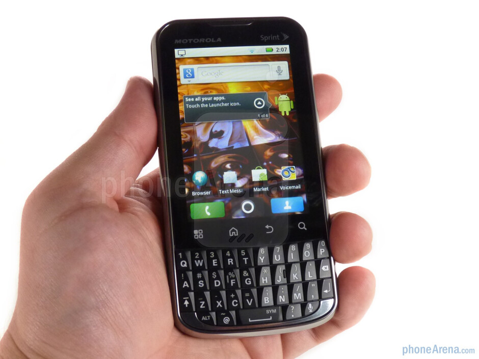 For the most part the Motorola XPRT retains the same design as the DROID Pro - Motorola XPRT Review