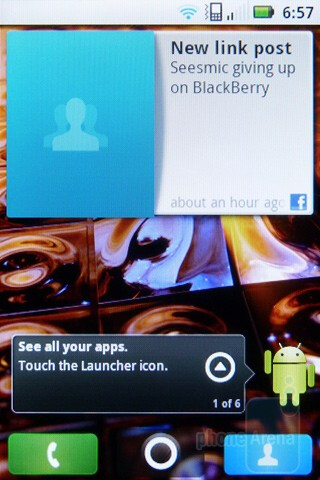 The Motorola XPRT runs Android 2.2 with the MOTOBLUR interface atop - Motorola XPRT Review