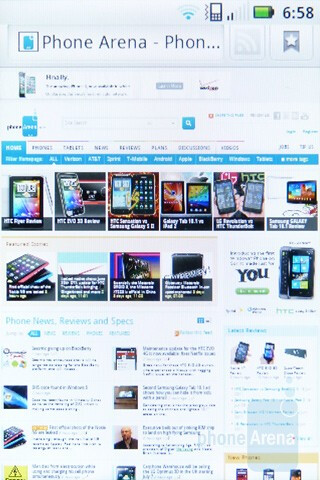 Web browsing - Motorola XPRT Review
