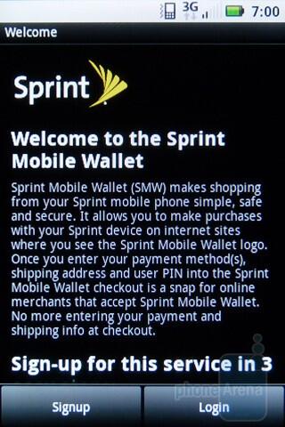 Sprint Mobile Wallet - Motorola XPRT Review