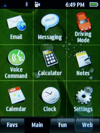 The interface of the Samsung Trender - Samsung Trender Review