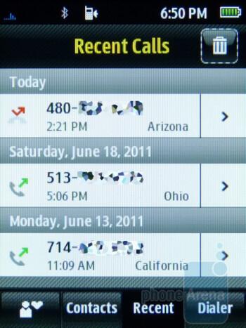 Phonebook - Samsung Trender Review
