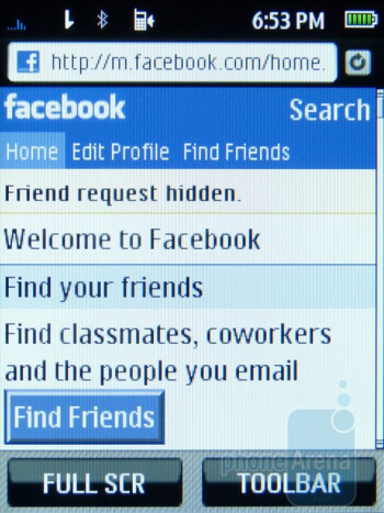 Social networking - Samsung Trender Review