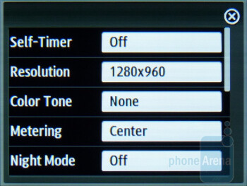 Camera interface - Samsung Trender Review