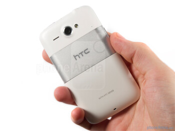 The HTC ChaCha sits in the hand well - HTC ChaCha Review