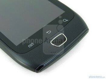 Capacitive touch Android buttons - Front - Samsung Exhibit 4G Review