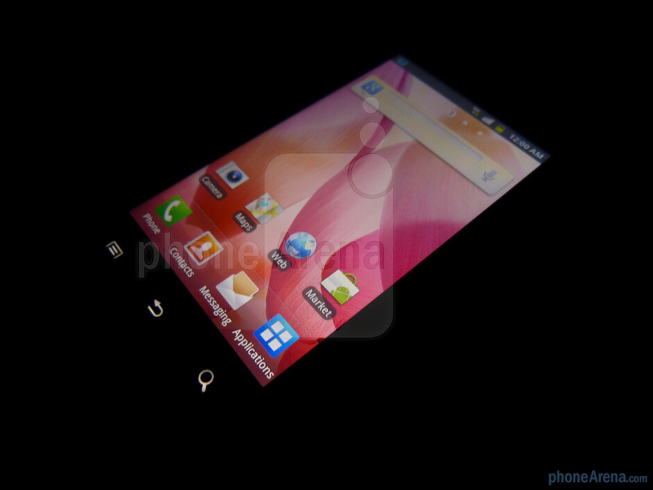 """The 3.5"""" LCD display employs WVGA resolution - Samsung Exhibit 4G Review"""