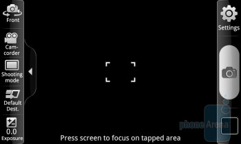 Camera interface - Samsung Exhibit 4G Review