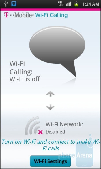 The Wi-Fi Calling app - Samsung Exhibit 4G Review