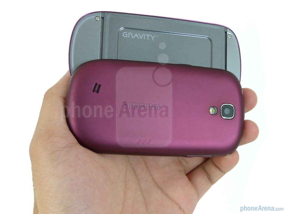 The Samsung Gravity SMART combines a mostly plastic exterior with a soft touch back cover - Samsung Gravity SMART Review
