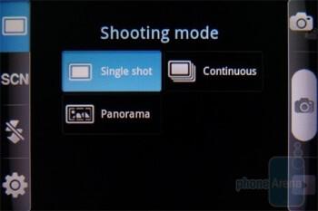 Camera interface - Samsung Gravity SMART Review