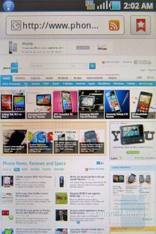 Web browsing - Samsung Gravity SMART Review