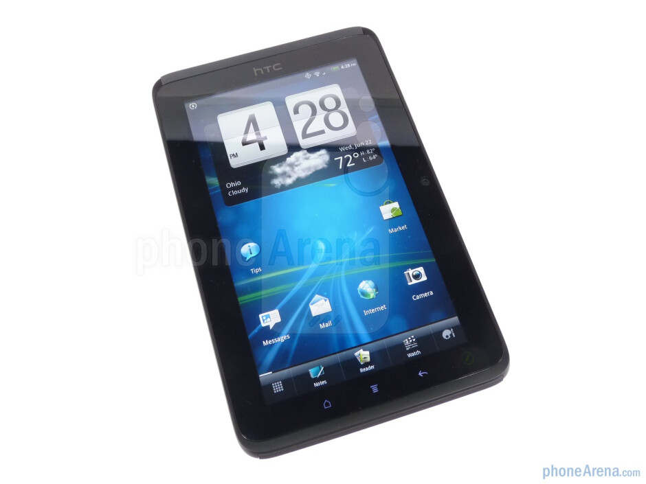 """The HTC EVO View 4G comes with a 7"""" display with 1024x600 resolution - HTC EVO View 4G Review"""