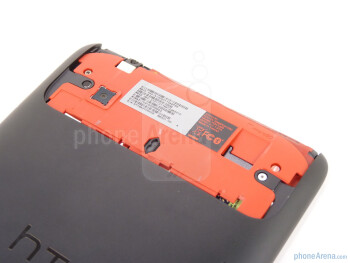 The microSD slot below the cover - HTC EVO View 4G Review
