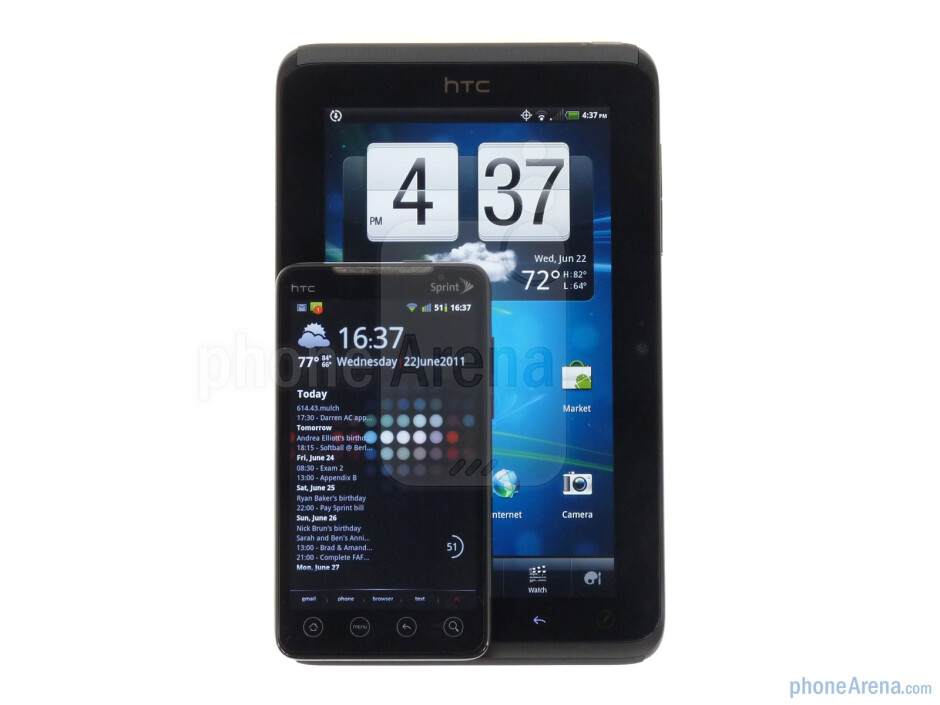 With the HTC EVO 4G - HTC EVO View 4G Review