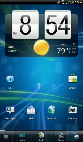 The HTC EVO View 4G runs the new Sense 3.0 user interface - HTC EVO View 4G Review