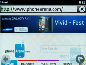 Browser 7.3 supports Flash Lite, HTML5 and hardware acceleration - Nokia E6 Review