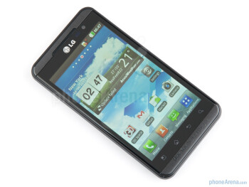 Front side - LG Optimus 3D (Thrill 4G) Review