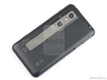 The back of the LG Optimus 3D - LG Optimus 3D (Thrill 4G) Review