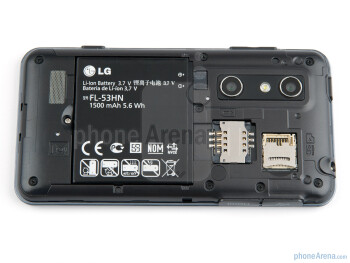 The back of the LG Optimus 3D - LG Optimus 3D (Thrill 4G) Preview