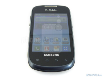 You can find the usual set of Android capacitive buttons beneath the display - Samsung Dart Review