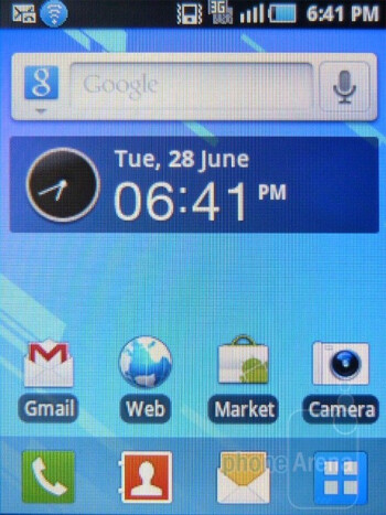 The Samsung Dart employs TouchWiz UI on top of Android 2.2 Froyo - Samsung Dart Review