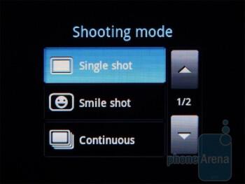 Camera interface - Camcorder interface - Samsung Dart Review
