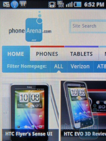 Web browsing - Samsung Dart Review