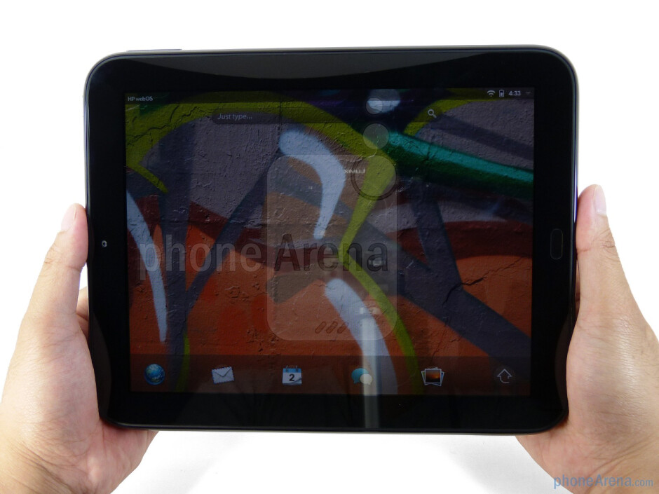 The HP TouchPad is constructed out of glossy piano black plastic - HP TouchPad Review