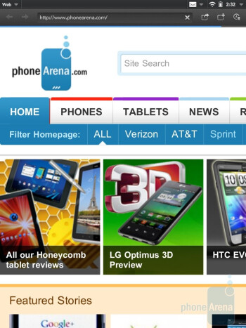 Web browsing with the HP Touchpad - HP TouchPad vs Apple iPad 2