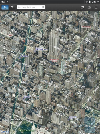Bing Maps on the HP TouchPad - HP TouchPad vs Samsung Galaxy Tab 10.1