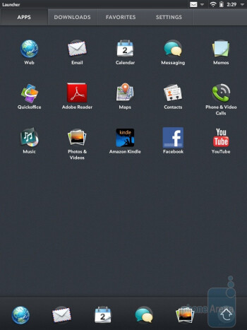 The apps menu - HP TouchPad Review