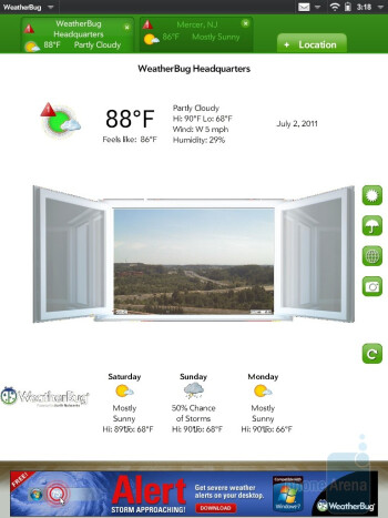 WeatherBug - There are a host of apps in the App Catalog that are carefully developedto provide a sensual experience on the HP TouchPad - HP TouchPad Review
