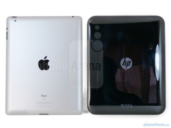 The HP TouchPad (right) and the Apple iPad 2 (left) - HP TouchPad vs Apple iPad 2