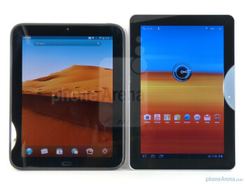 The HP TouchPad (left, bottom) and the Samsung Galaxy Tab 10.1 (right, top) - HP TouchPad vs Samsung Galaxy Tab 10.1