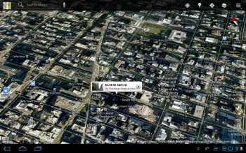 Google Maps on the Samsung Galaxy Tab 10.1 - HP TouchPad vs Samsung Galaxy Tab 10.1