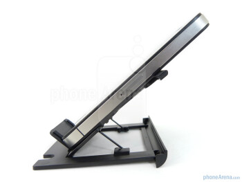 The Apple iPhone 4 in the adjustable stand - Verbatim Wireless Bluetooth Mobile Keyboard Review
