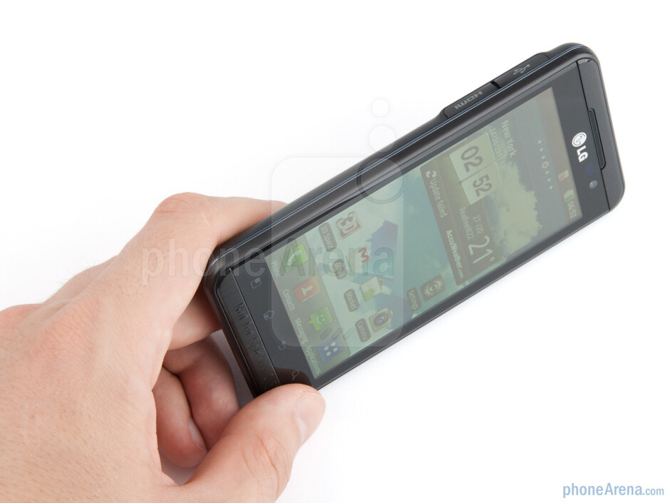 The LG Optimus 3D looks solid in the hand - LG Optimus 3D (Thrill 4G) Review