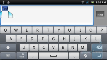 On-screen keyboard - Sony Ericsson Xperia ray Preview