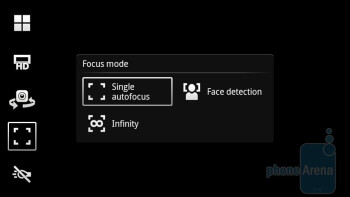 The Timescape camera interface of the Sony Ericsson Xperia ray is the newest version - Sony Ericsson Xperia ray Preview